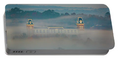 Fog At Old Main Portable Battery Charger by Damon Shaw