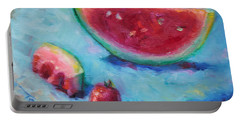 Forbidden Fruit Portable Battery Charger by Talya Johnson