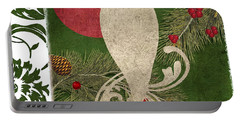 Forest Holiday Christmas Owl Portable Battery Charger by Mindy Sommers
