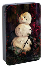 Forest Snowman Portable Battery Charger by Lois Bryan