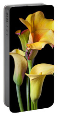 Four Calla Lilies Portable Battery Charger by Garry Gay