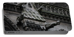 Four Gargoyles On Notre Dame North Portable Battery Charger by Christopher Kirby