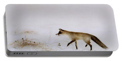 Fox In Snow Portable Battery Charger by Jane Neville