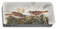 Fox Sparrow Portable Battery Charger by John James Audubon