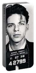 Frank Sinatra Mug Shot Vertical Portable Battery Charger by Tony Rubino