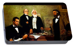 Frederick Douglass Appealing To President Lincoln Portable Battery Charger by War Is Hell Store