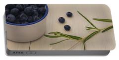 Fresh Blueberries Portable Battery Charger by Kim Hojnacki