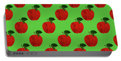 Fruit 02_apple_pattern Portable Battery Charger by Bobbi Freelance