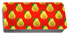 Fruit 03_pear_pattern Portable Battery Charger by Bobbi Freelance