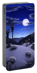Full Moon Rising Portable Battery Charger by Snake Jagger