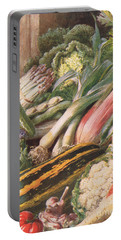 Garden Vegetables Portable Battery Charger by Louis Fairfax Muckley