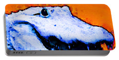 Gator Art - Swampy Portable Battery Charger by Sharon Cummings