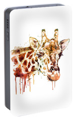 Giraffe Head Portable Battery Charger by Marian Voicu