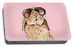 Glamorous Rabbit Portable Battery Charger by Katrina Davis