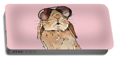 Glamorous Rabbit Portable Battery Charger by Katrina Davis