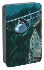 Glider Escape From Colditz Castle Portable Battery Charger by Wilf Hardy