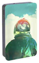 God Is An Astronaut Portable Battery Charger by Fran Rodriguez