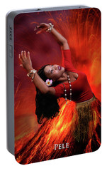 Goddess Pele Portable Battery Charger by David Clanton