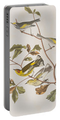 Golden Winged Warbler Or Cape May Warbler Portable Battery Charger by John James Audubon