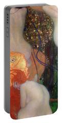 Goldfish Portable Battery Charger by Gustav Klimt