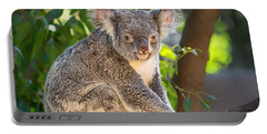 Good Morning Koala Portable Battery Charger by Jamie Pham