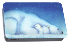 Arctic Bears, Goodnight Nanook Portable Battery Charger by Tracy Herrmann
