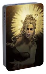Gorgon Medusa Portable Battery Charger by Joaquin Abella