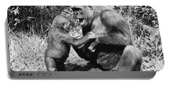 Gorillas Playing Portable Battery Charger by Tom McHugh