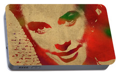 Grace Kelly Watercolor Portrait Portable Battery Charger by Design Turnpike