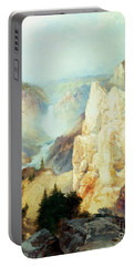 Grand Canyon Of The Yellowstone Park Portable Battery Charger by Thomas Moran