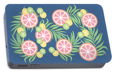 Grapefruit  Portable Battery Charger by Lauren Amelia Hughes