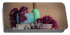 Grapes With Wine Stoppers Portable Battery Charger by Tom Mc Nemar