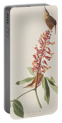 Great Carolina Wren Portable Battery Charger by John James Audubon