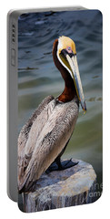 Grey Pelican Portable Battery Charger by Inge Johnsson