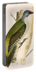 Grey Woodpecker Portable Battery Charger by English School
