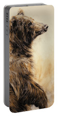 Grizzly Bear 2 Portable Battery Charger by Odile Kidd