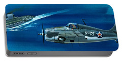 Grumman F4rf-3 Wildcat Portable Battery Charger by Wilf Hardy