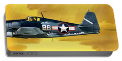 Grumman F6f-3 Hellcat Portable Battery Charger by Wilf Hardy