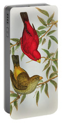 Haematospiza Sipahi Portable Battery Charger by John Gould
