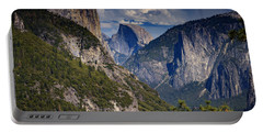 Half Dome And El Capitan Portable Battery Charger by Rick Berk