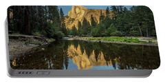 Half Dome From  The Merced Portable Battery Charger by Peter Tellone