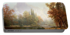 Half Dome Yosemite Portable Battery Charger by Albert Bierstadt