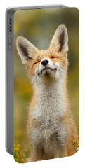 Happy Fox Portable Battery Charger by Roeselien Raimond