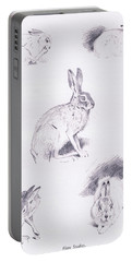Hare Studies Portable Battery Charger by Archibald Thorburn