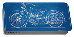 Harley-davidson Motorcycle 1928 Patent Artwork Portable Battery Charger by Nikki Marie Smith
