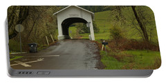 Harris Covered Bridge - Oregon Portable Battery Charger by Adam Jewell