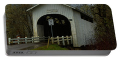 Harris Covered Bridge Wren Oregon Portable Battery Charger by Adam Jewell