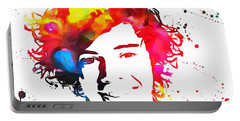 Harry Styles Paint Splatter Portable Battery Charger by Dan Sproul
