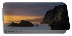 Hawaii Sunrise At The Pololu Valley Lookout Portable Battery Charger by Larry Marshall