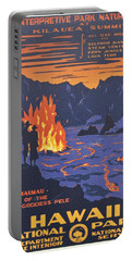 Hawaii Vintage Travel Poster Portable Battery Charger by Georgia Fowler